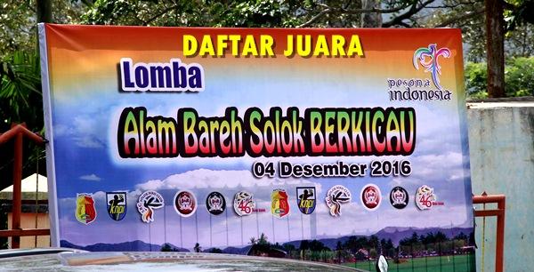 """Daftar Juara """"Alam Bareh Solok Berkicau"""" – Sumbar 2016"""