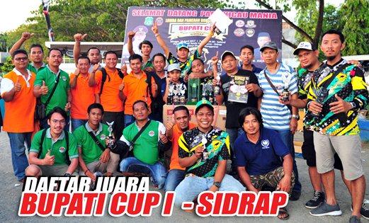 Daftar Juara Bupati CUP Sidrap (16/4/2017)