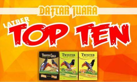 DAFTAR JUARA LATBER RABU TOP TEN feat BnR (15/01/2020)