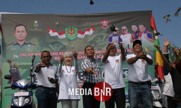 Danrem  063/SGJ Cup Cirebon – Resmi Dibuka Dengan Melepas Liarkan 400 Ekor Burung