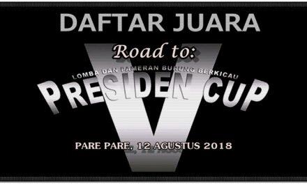 Daftar Juara Road To PRESCUP V – BnR Sulawesi Selatan (12/8/2018)