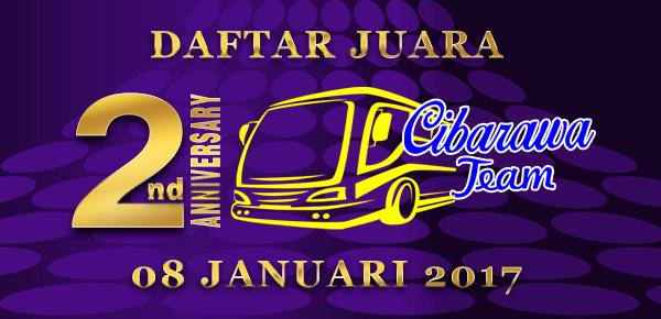 DAFTAR JUARA LOMBA 2nd ANNIVERSARY  CIBARAWA TEAM