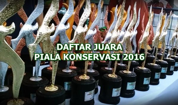 Daftar Juara Piala Konservasi 2016 (Lap-B)