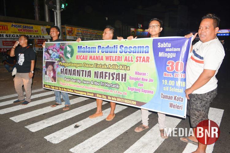 Kicaumania Weleri All Star & Friends Galang Dana Bantuan Untuk Hanantia Nafisah
