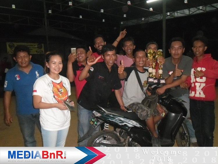 Door Prize motor akhirnya diboyong H. Roni dari Cileunyi Bandung