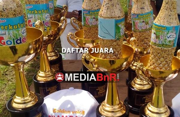 Daftar Juara Golden Voice Cup I – Banyumili (2/4/2017)