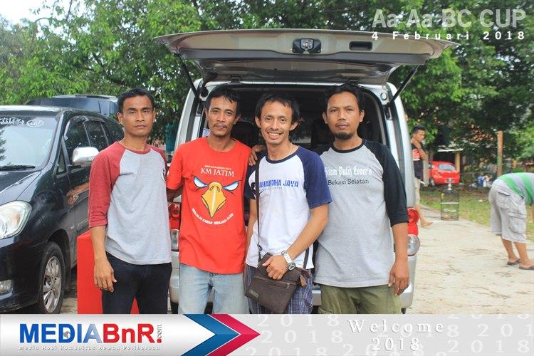 Guntar bersama tim dukung aa aa BC cup