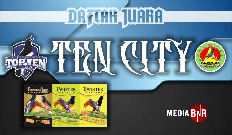 DAFTAR JUARA TEN CITY TOP TEN FEAT DEWA 99 (01/12/2019)