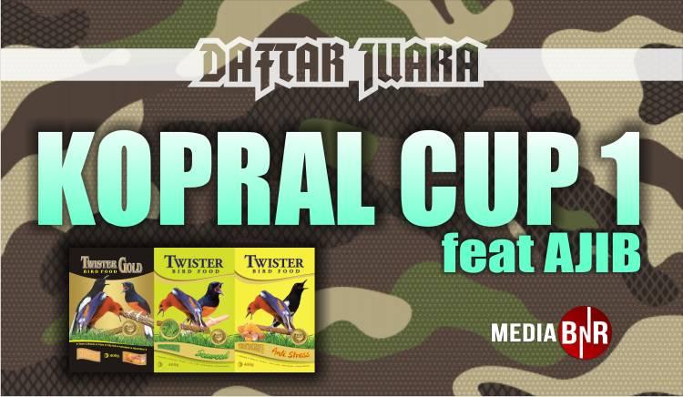 DAFTAR JUARA MKOPRAL CUP 1 (01/12/2019)