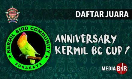 DAFTAR JUARA ANNIVERSARY KERMIL BC CUP 1 (25/11/2018)