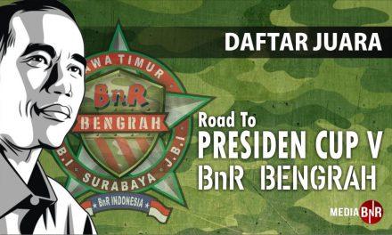 Daftar Juara Road To Presiden Cup V – BnR Bengrah (22/7/2018)