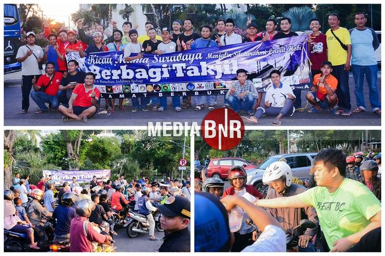 Kicau Mania Surabaya Berbagi Takjil