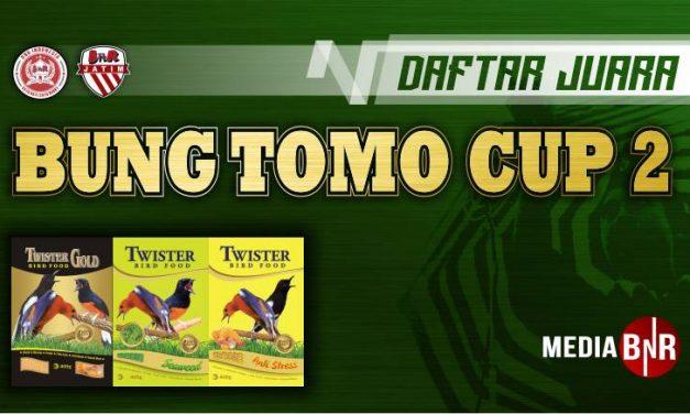 DAFTAR JUARA BUNG TOMO CUP 2 (03/11/2019)
