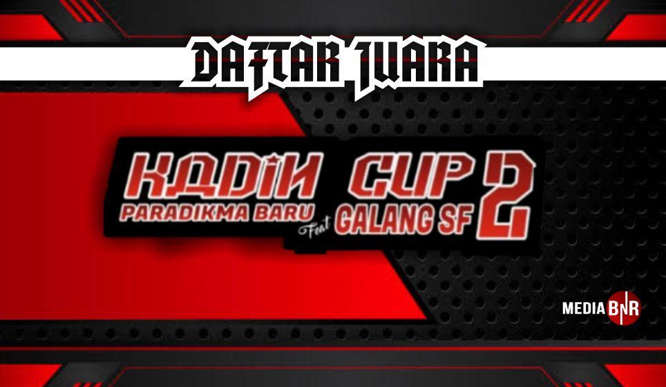 DAFTAR JUARA KADIN CUP II (27/12/2020)