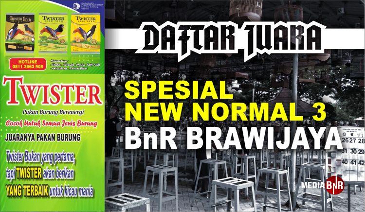 DAFTAR JUARA BnR BRAWIJAYA NEW NORMAL 3 (28/06/2020)
