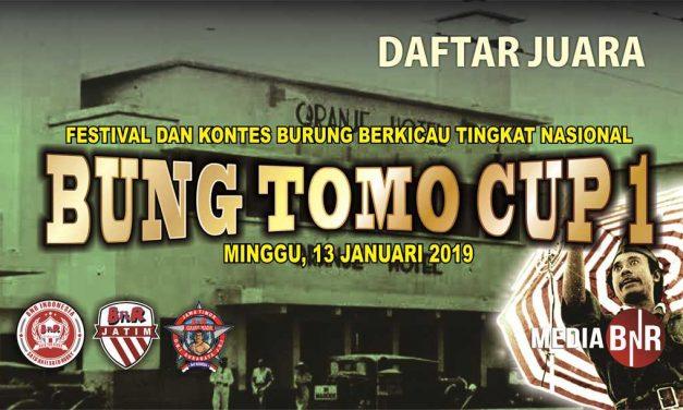 DAFTAR JUARA BUNG TOMO CUP 1 (13-01-2019)