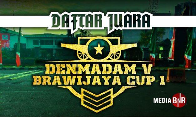 DAFTAR JUARA DENMADAM V BRAWIJAYA CUP 1 (11/10/2020)