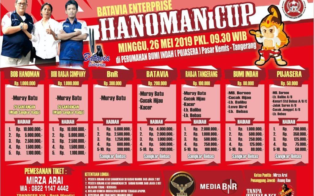 Batavia Ent Gelar Lomba Hanoman Cup 26 Mei 2019