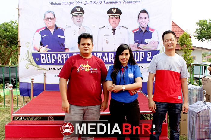 Hery Arianto dan Tanto WK pengurus Ronggolawe Nusantara Lampung turut meraimakan gelaran ini