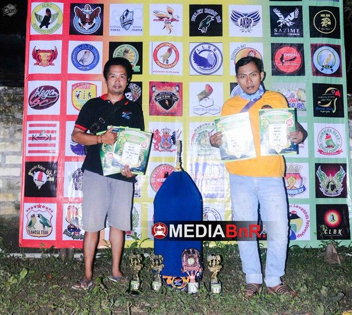 Launching yang memikat 925 kontestan, BOLOT dominasi kelas lovebird, Abang Adek raih  juara Umum