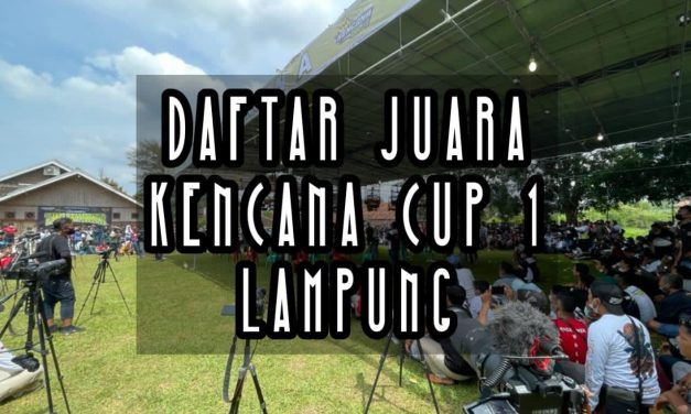 Daftar Juara Kencana Cup 1 (Lap A Dan B) Minggu, 04 April 2021