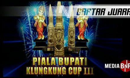 Daftar Juara Piala Bupati Klungkung 3 (1/5/2019)