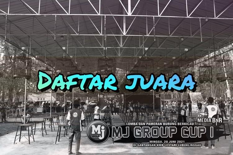 Daftar Juara MJ GRUP CUP 1 – Lubuk Linggau (20/6/2021)