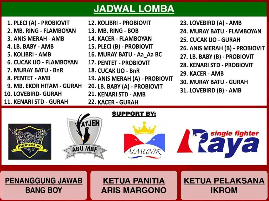 Data Pemesan Tiket Aa Aa BC Cup 1 – Besok Sabtu Bisa Diambil Pukul 9 Pagi, Hingga Sore