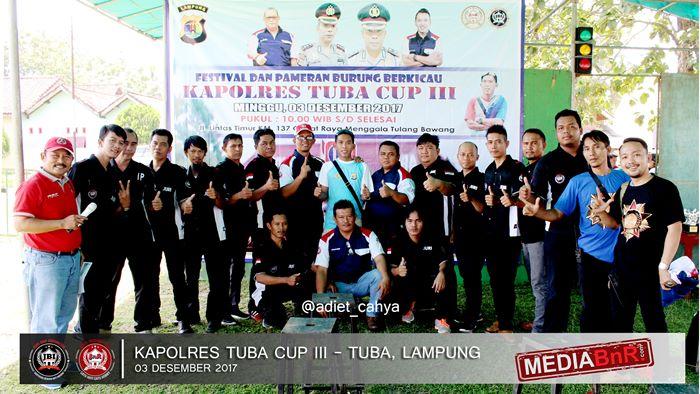 JBI dan OBI photo bersama Repiansyah selaku ketua panitia Kapolres Tuba Cup III