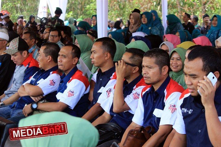 Jajaran Penurus BnR Indoesia di penutupan TNI Mandiri Membangun Desa ke 100