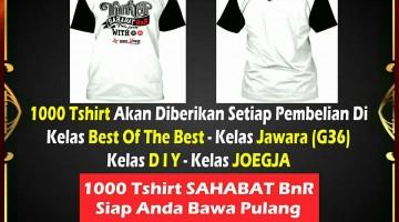 Kaos Sahabat BnR Untuk Pembelian Tiket Lomba