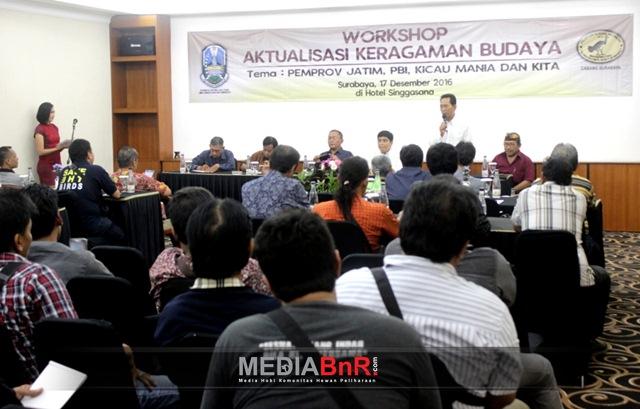 Ketua PBI Surabaya Heri Sugihono, SH. MH membuka acara sarasehan