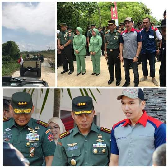 Ketua Umum BnR Indonesia  DR.Muhammad Khadafi SH MH di acara TMMD Pelepasan Burung Ke Alam Liar
