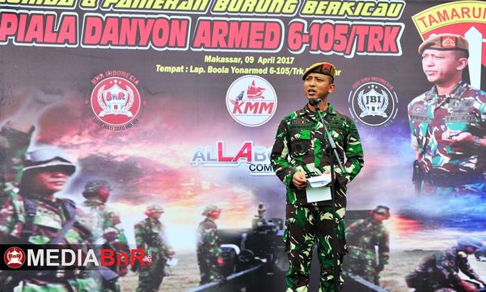 Silaturahmi Komunitas Kicaumania Sulawesi bersama Batalyon Armed 6-105 Tarik