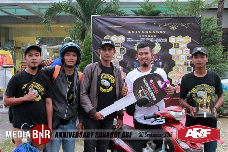 Anniversary Sahabat ABF – Raih Poin Tertinggi, LB Sena dan Hilton Boyong 2 Unit Sepeda Motor