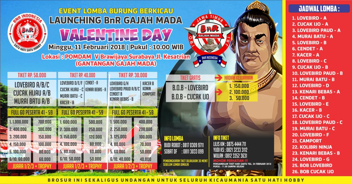 Launching BnR Gajah Mada Valentine Day