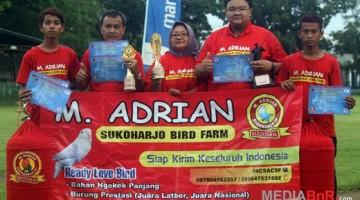 M. Adrian Sukoharjo sukses di kelas love bird Penangkaran (Foto: Agus/MediaBnR.Com)
