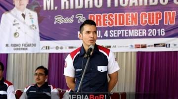 M. Kadafi selaku ketum BnR Indoensia memberikan kata sambutan(MRF I)