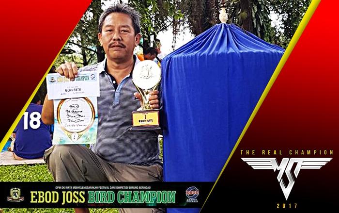 MS berhasil menjuarai kelas utama Ebod Joss Champion dan membawa pulang hadiah 30 juta.