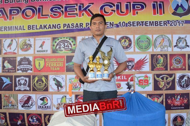 Mr Harianto Fish raih podium utama dikelas utama Murai Batu bersama amunisnya Raja Samba dan podium II dikelas cendet