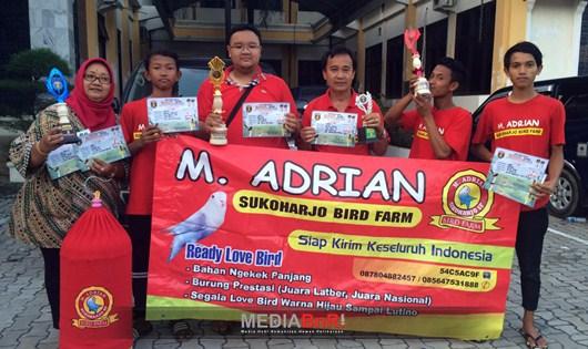 Breeding Love Bird, Sukses Transaksi di Piala Raja