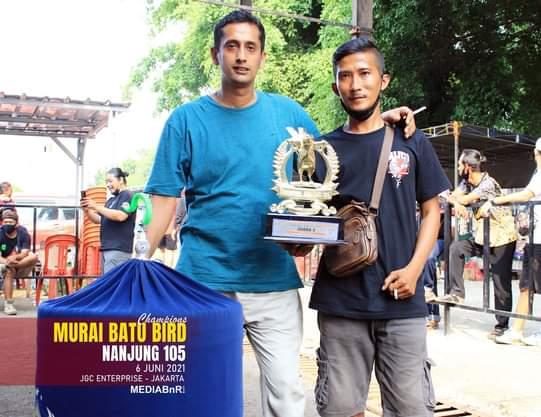 R.JORDAN : DOUBLE WINNER POSISI RUNNER UP DI MURAI BATU BIRD CHAMPION NANJUNG 105