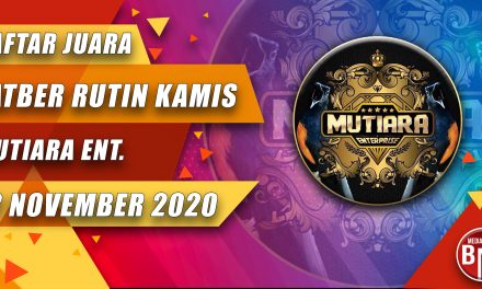 DAFTAR JUARA LATBER KAMIS CERIA MUTIARA ENTERPRISE BERSAMA JURI BnR INDONESIA