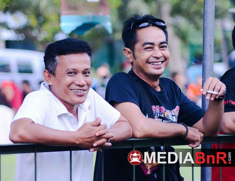 Nampak hadir Imron (Ketua Radjawali Indonesia DPD Jatim) kiri