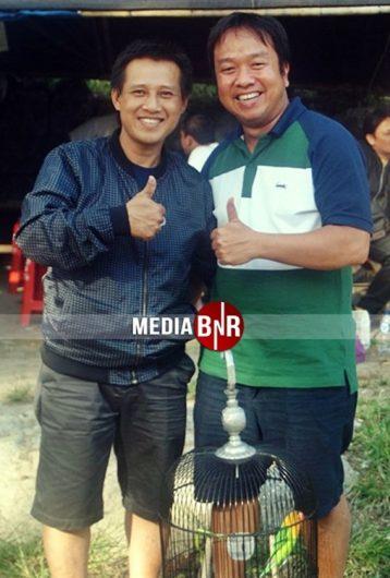 Nguyen Cong Thoung (kiri) Kicaumania Dari Vietnam & Budi Breeder Murai Batu Dari Bandung