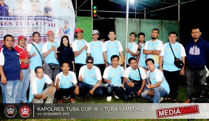 OBI Lampung photo bersama creww Kapolres Tuba Cup III