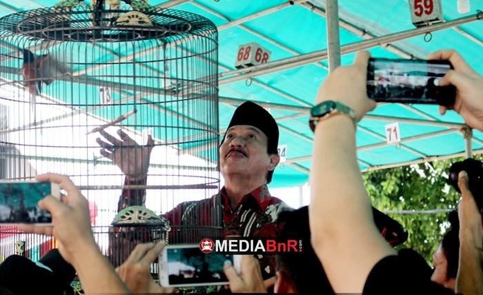 Penggantangan Murai Batu oleh Walikota Bandar Lampung