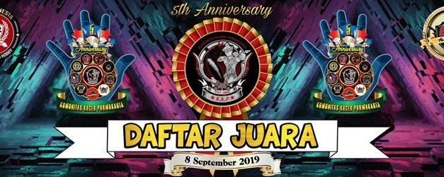 Daftar Juara 5TH ANNIVERSARY KKP – Purwakarta 2019