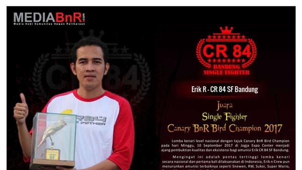 Erik CR 84 SF Bandung Juara SF di Canary BnR Bird Champion