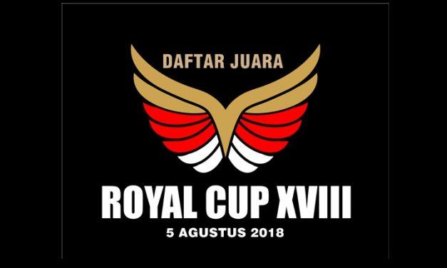 Daftar Juara ROYAL CUP XVIII 2018